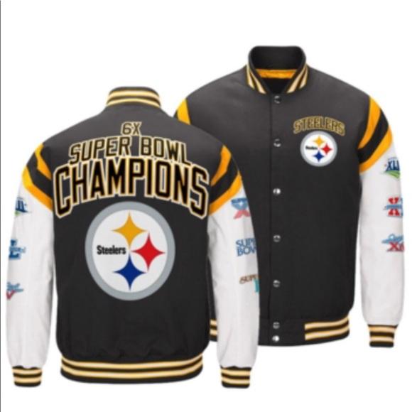 Men S Pittsburgh Steelers Home Team Varsity Jacket
